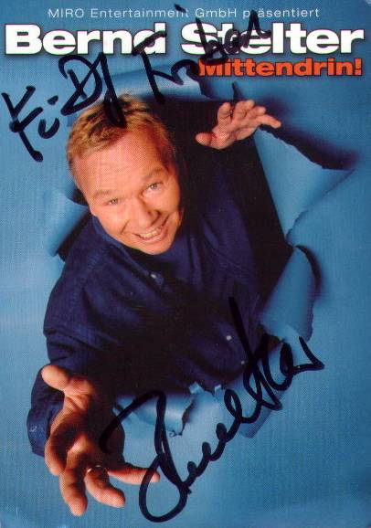 Bernd-Stelter-Autogrammkarte